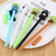 40 pcs/lot Creative Black White Gel Pen Cute Student Office Stationery School Water Gel Pens black ink Signature Pen