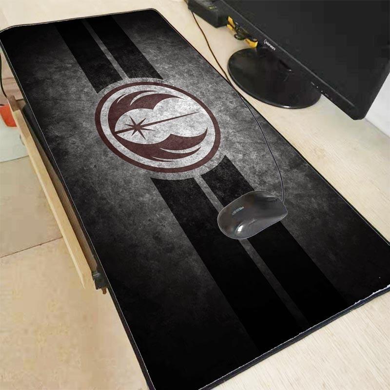 Mairuige Star War Logo Design Speed Game Large Locking Edge MousePads Computer Gaming Mouse Pad Gamer Play Mats Version Mousepad