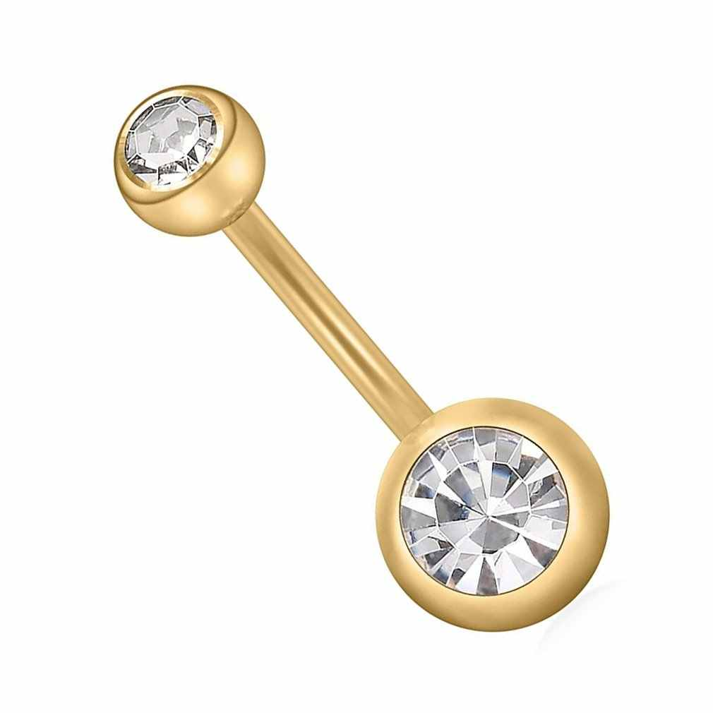 Hecho de Piercing ombligo del vientre quirúrgico botón anillos de perforación de ombligo anillo para la joyería de las mujeres