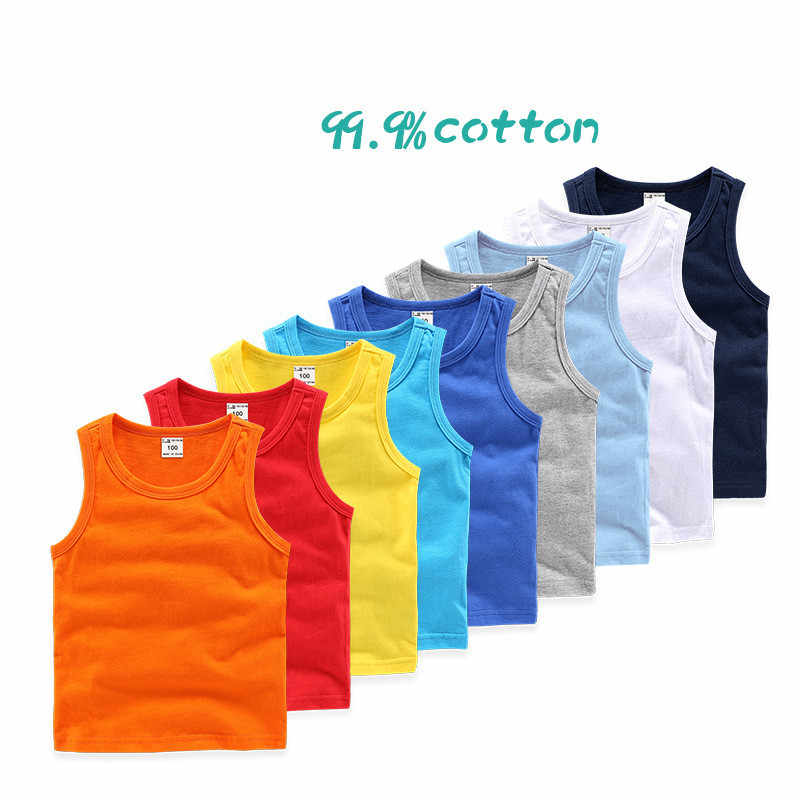 2 11Y Kids Baby Boys Vests T shirts Children Summer Vest Top Outfit Kid Boy  Girl Solid Tops Clothes Cotton Tees Black Playsuits|Vests| - AliExpress