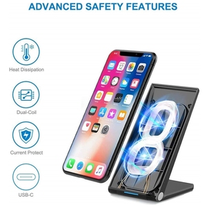 Image 4 - DCAE 15W Qi Wireless Charger Stand PadสำหรับiPhone 12 11 Pro X XS Max XR 8 10W fast Charging Dock StationสำหรับSamsung S20 S10 S9