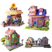 Diy Paper Quality 3d Three-dimensional Jigsaw Puzzle Children Manual Beneficial Wisdom Early Education Toys Gift Gift пластилин beneficial chin 8818a 3d diy