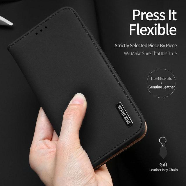 Do Samsung Galaxy Note 10 Plus Case luksusowe oryginalne SKÓRZANY PORTFEL etui do Samsung Note 10 Plus 5G biznes magnetyczny etui z klapką