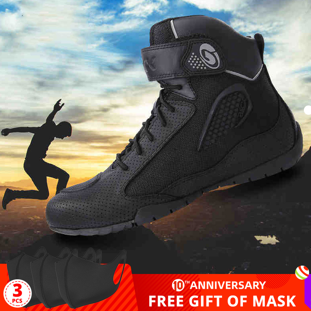ARCX Motorcycle Boots Men Motorcycle Shoes Moto Riding Boots Breathable Motorbike Biker Chopper Cruiser Touring Ankle Shoes