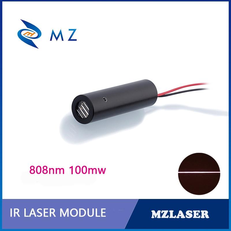 808nm 100 MW IR Laser Line Module D12mm 90 Degree ACC Unit Robot Laser Module Sensor