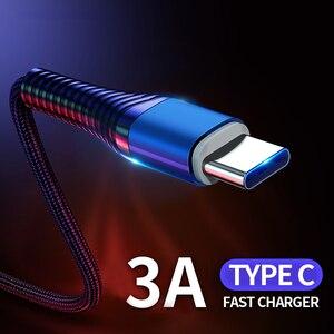USB кабель Type C для Samsung Xiaomi Huawei USB-C, зарядное устройство, usb-кабели Type-C, кабель для передачи данных, кабель для быстрой зарядки, кабель USB C