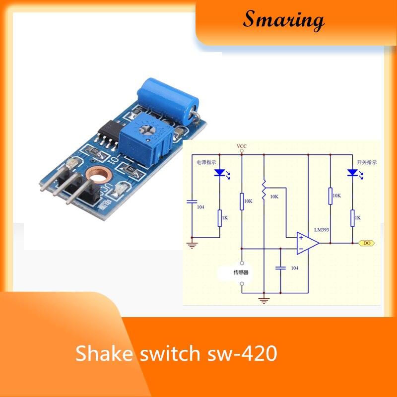 3PCS SW-420 3.3-5V Motion Tilt Sensor Vibration Switch Alarm Module Arduino New