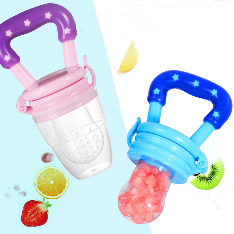 Baby Pacifier Clips Food Grade Silicone Infant Toddlers Teether Vegetable Fresh Fruit Nipple Teat Toy Ring Chewable Soother