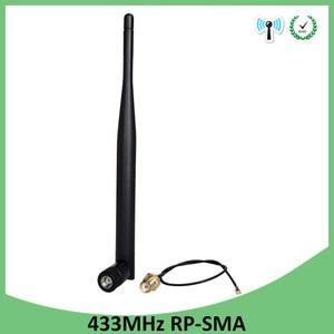 Image 5 - 433 Mhz אנטנת לורה 5dbi RP SMA מחבר עמיד למים 10pcs 433 MHz כיוונית Antena גומי + 21cm SMA זכר/u.FL צם כבל