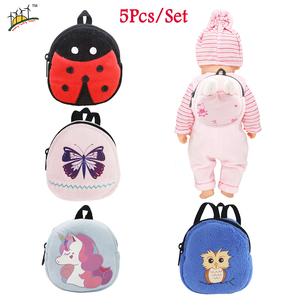 Плюшевый Рюкзак для куклы, размер 43 см, куклы для новорожденных, 18 дюймов, куклы АГ, Мультяшные мини-рюкзаки, аксессуары для игрушечной куклы ...
