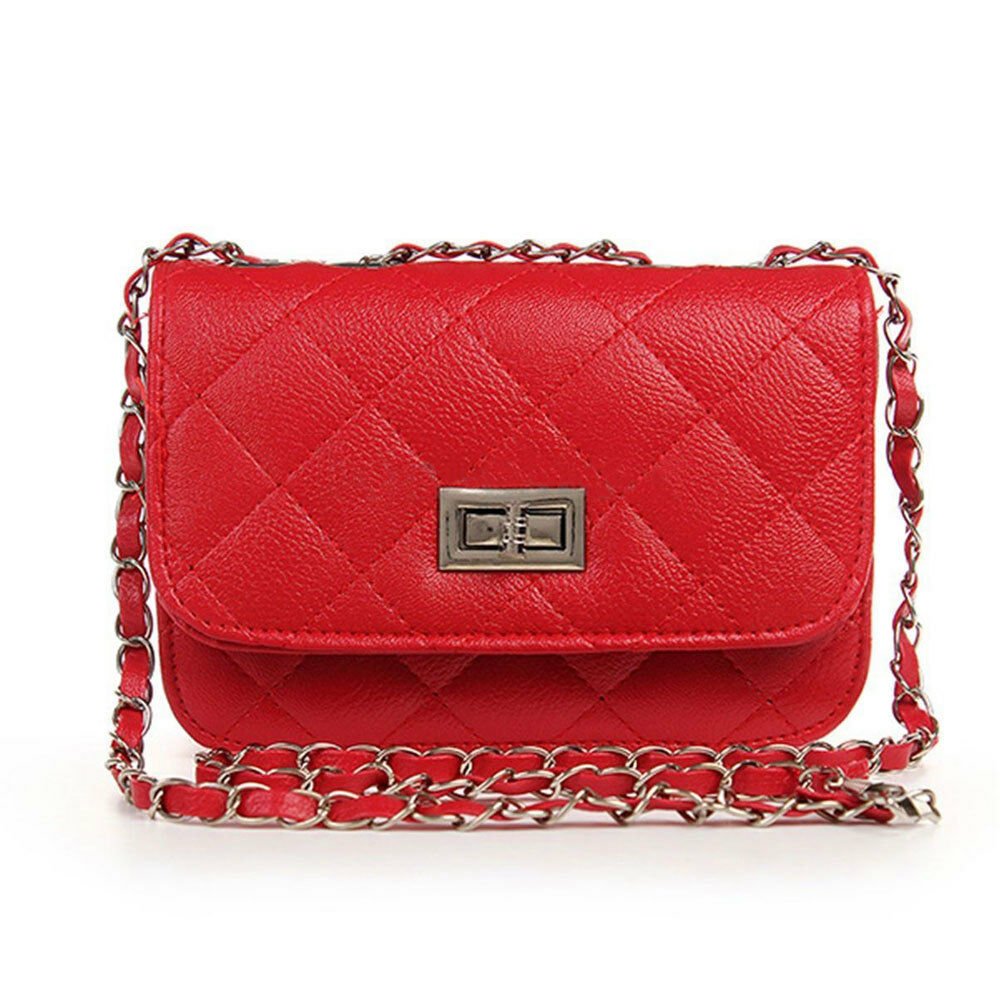 Stylish Women Shoulder Bag Good Quality Leather Fashion  Messenger Chain Handbag Black Ladies Bag