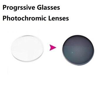 Asferik fotokromik ilerici gözlük lensler reçete lensler gri renk okuma gözlüğü lensler 7-10 gün özelleştirme
