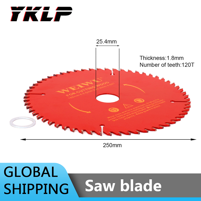 10 Inch Carbide Tip Tooth Circular Saw Blade For Cutting Woodworking Tool  25.4mm Hole