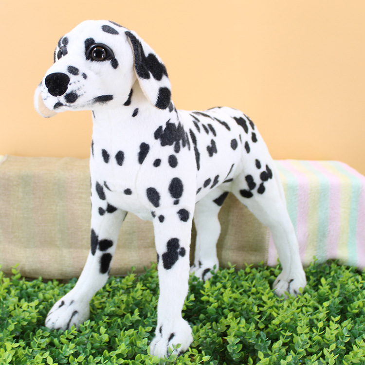 50cm Lovely Standing Black white gray dog lively Simulated Stuffed Animals model can ride Kids mount Plush doll Child toys gift