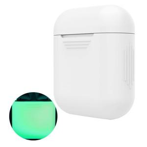Image 2 - Vococal funda protectora de silicona a prueba de golpes para Apple AirPods, funda protectora que brilla en la oscuridad, accesorios para auriculares inalámbricos