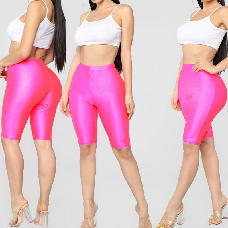 LOOZYKIT Women Sexy Yoga Shorts High Waist Sports Leggings Female Gym Fitness Leggings Solid Push Up Running Jogging Shorts