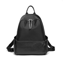 Women Backpacks Anti-theft Leather Backpack Female Double Shoulder School Bag Travel Shoulder Bags Rucksack Lady Packsack C1130(China)