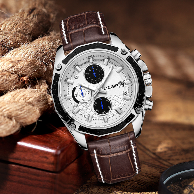 Natural Detox Gainer <font><b>Megir</b></font> Men Watch Multi-functional Hot Selling Sports Waterproof Brand Men's Watch <font><b>2015</b></font> image