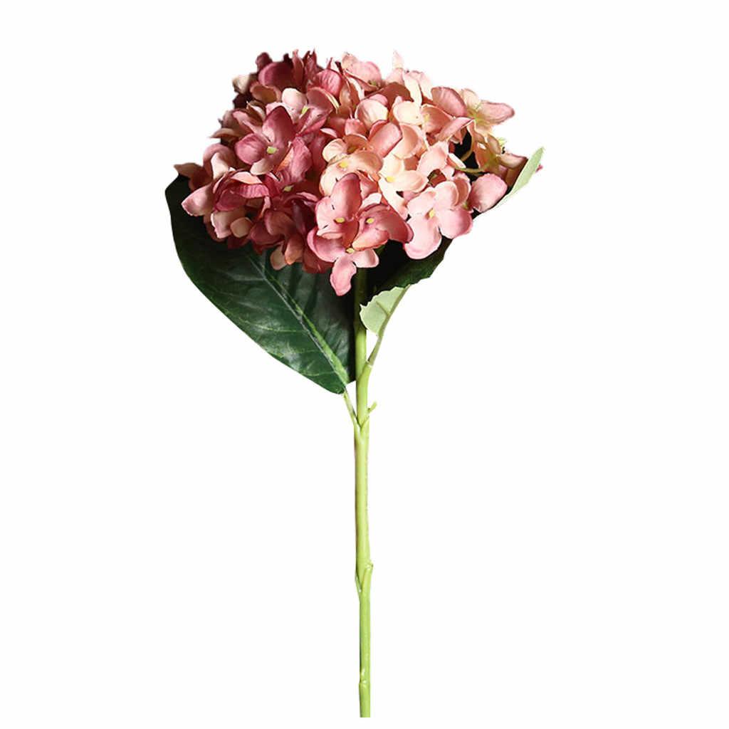 Sztuczny kwiat hortensja dekoracja ślubna bukiet kwiatów sztuczny kwiat kwiat z jedwabiu strona główna wesele wystrój kwiatowy