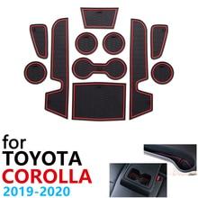 Anti Slip Gummi Tasse Kissen Tür Nut Matte für Toyota Corolla E210 210 2019 2020 2021 Zubehör Auto Aufkleber matte für telefon