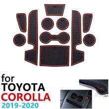 Cojín de goma antideslizante para tazas, esteras con surcos para puerta para Toyota Corolla E210 210 2019 2020 2021, accesorios, pegatinas para coche, alfombrilla para teléfono