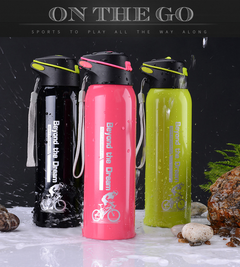 Hfb21b76c1d6a43c1ad81e91a9ffa5aad7 500ML Sport thermos water bottle Thermo Mug Stainless Steel Vacuum Flask mug with straw Insulation Cup Thermoses tthermal bottl