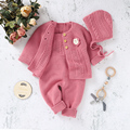 Baby Rompers Autumn Winter Toddler Jumpsuits Infant Tops Clothing Long Sleeve Newborn Girl Kids Onesies Solid Ribbed Knitted