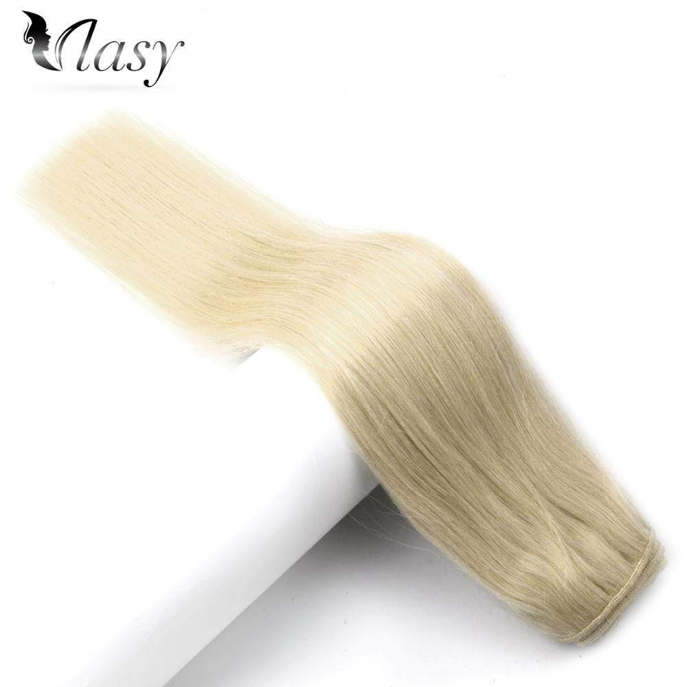 Vlasy 100g/pc Machine Made Remy Natural Hair Weft Blonde Color 100% Human Hair Weaves 16'' 18'' 20'' 22'' 24'' Free Shipping