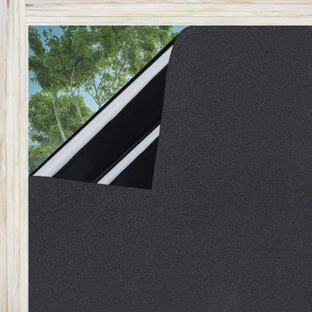 LUCKYYJ Matte Blackout Privacy pellicola per vetri protezione UV adesivo per vetri pellicola per vetri scuri pellicola per vetri 100% blocco della luce