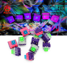 Kailh&Domikey Box Pink purple cover eva Mechanical keyboard switch with tactile handfeeling 62g/67g