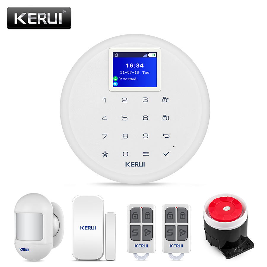 KERUI G17 Residential GSM Alarm Home Alarm System Wireless Burglar Security Sensor Kit Android IOS Phone APP Remote Control