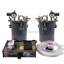 Semi-automatic glue dispenser A B mixed Doming liquid glue distribution stainless steel pressure tank for epoxy resin glue stainless steel pressure tank with factory price