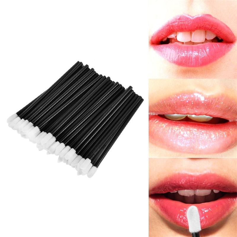 100 PCS Disposable Lip Brush Make Up Brushes Set Mascara Wands Pen Cleaner Cleaning Eyelash Makeup Applicators