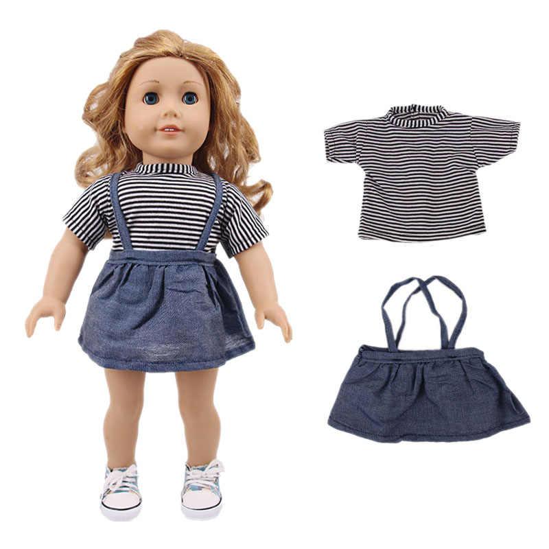 สาวชุด = แขนสั้น + กระโปรง/กางเกงสำหรับอเมริกัน 18 นิ้ว 43 ซม.ตุ๊กตาเสื้อผ้าเด็กคริสต์มาสวันเกิดของขวัญ