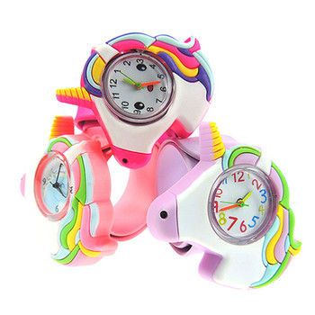 2020 Hot unicorn Watch Children Birthday Gifts Unicorn Watch Girl Boy Child Clock Students Sports Quartz Kids Watches 2