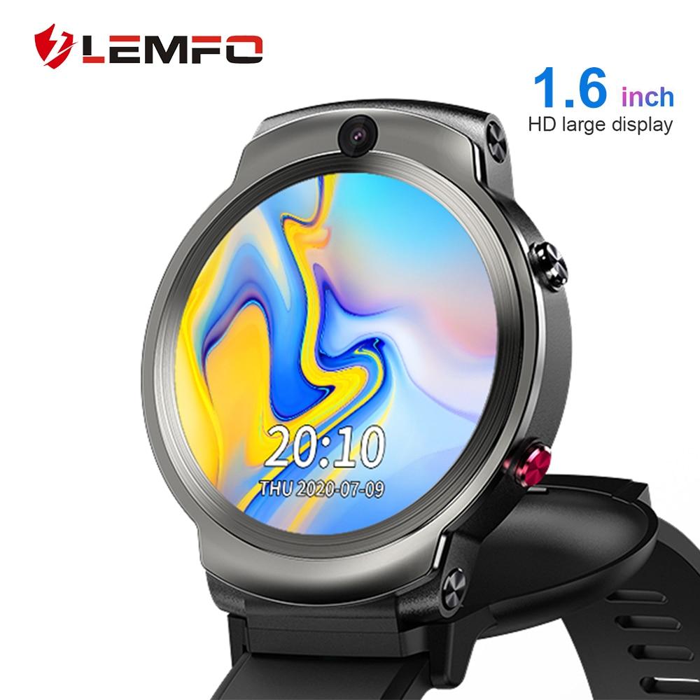 LEMFO LEM13 Smart Watch 4G Slip Dual Camera 1 6 inch Round Screen OS Android 7 1 3G RAM 32G ROM LTE 4G Sim GPS WIFI Men Women