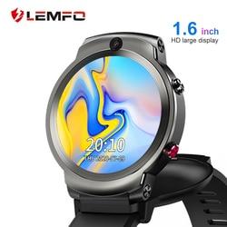 LEMFO LEM13 Smart Uhr 4G Slip Dual Kamera 1,6 zoll Runde Bildschirm OS Android 7,1 3G RAM 32G ROM LTE 4G Sim GPS WIFI Männer Frauen