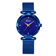 Reogio Feminino BIDEN Women Watches for Ladies Elegant Starry Watch Rhinestones Minimalism Analog Mesh Band Clock 0127