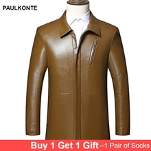 Autumn new thin jacket mens sheepskin leather high quality business fashion casual wild