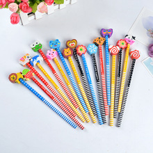 Children's cartoons with rubber-tipped pencils creative HB pupils pencils gifts stationery log pencils sketch pencils 32pcs professional drawing artist kit pencils sketch charcoal art craft with carrying bag tools