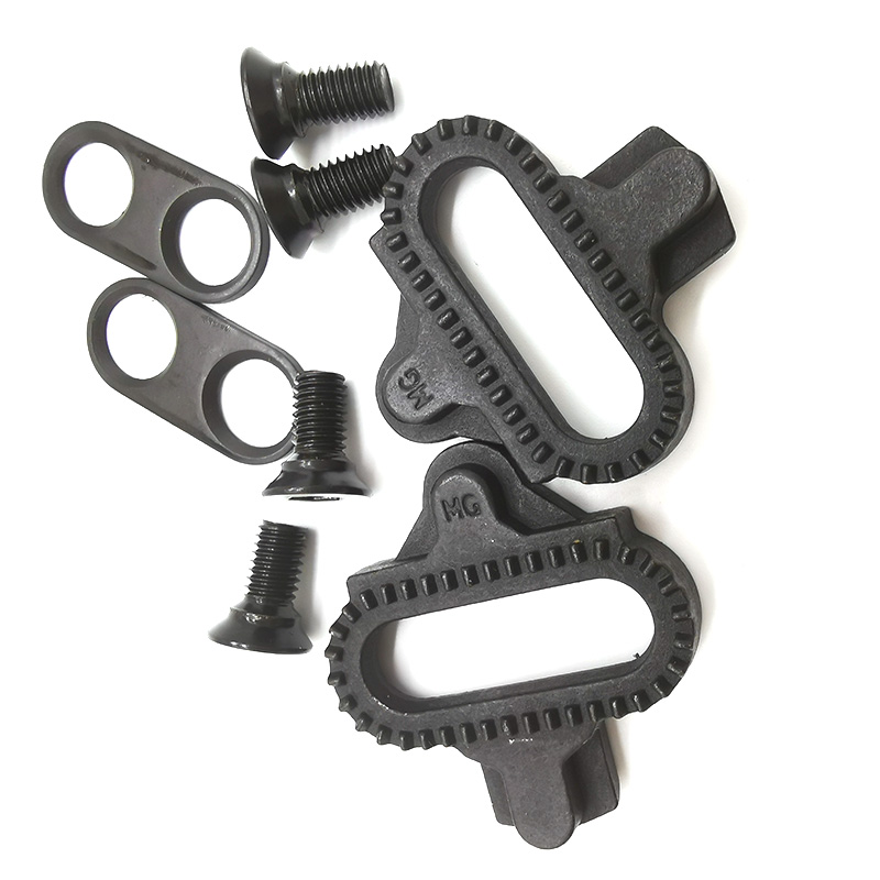 1 Pair Bicycle Self-locking Pedal Parts SM-SH51 SPD Cleat Set Compatible with MTB Bike <font><b>PD</b></font>-M520 <font><b>M9100</b></font> M540 Nut Not Included image