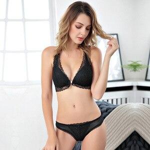 Image 2 - เซ็กซี่Mousse PLUSขนาดแฟชั่นสุภาพสตรีชุดชั้นในชุดWirelessเซ็กซี่Push Up A B Cถ้วยบางBrasสีดำชุดชั้นในสำหรับสตรี