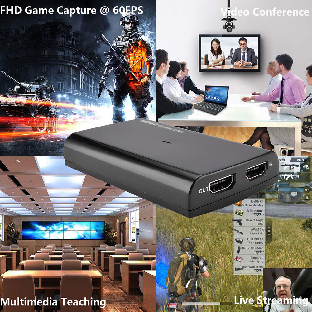 HD 1080P Video Card Conference 4K 30P Live Streaming With Mic Input HDMI USB3.0 60fps Game Record For Windows for MAC image