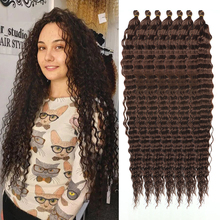 Water Wave Twist Crochet Hair african curls Synthetic Braid Hair Ombre Blonde Pink 30 Inch afro curls Braiding Hair Extension