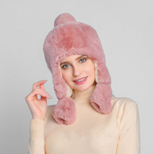 Women Faux Fur Hat for Winter Rabbit Fur Cap Russian Female 2019 New Fashion Warm Beanies Cap Bomber Hats with Ear Flap Headgear стоимость