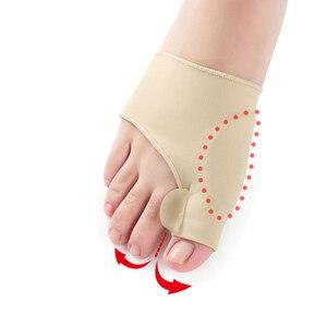 Image 3 - 1 זוג גדול הבוהן בוהן Valgus מתקן מדרסי רגליים טיפול עצם אגודל שמאי תיקון פדיקור גרבי פיקה מחליק