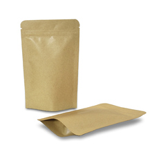 Reclosable Stand Up Kraft Paper Package Bag Aluminum Foil Packaging Bag Heat Seal Zip Lock Mylar Paper Bags for Food Storage