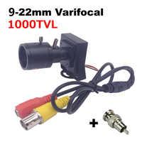 Mini Camera 9-22mm Lens Manual Varifocal Lens 1000TVL Camera Adjustable Lens+RCA Adapter Car Overtaking