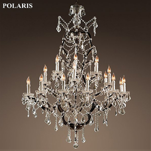 Image 5 - Vintage Rustic Crystal Chandelier Lighting Candle Chandeliers Pendant Lamp Hanging Light for Dining Room