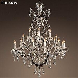 Image 5 - Vintage rustykalny żyrandol kryształowy świeca żyrandole wisiorek lampa wisząca światło do jadalni